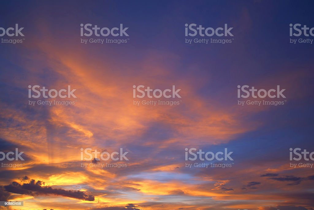 sunset sky clouds stock photo