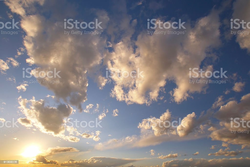 sunset sky clouds royalty-free stock photo