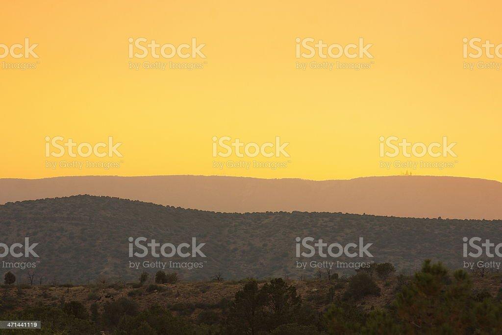 Sunset Sky Desert Canyon Landscape royalty-free stock photo