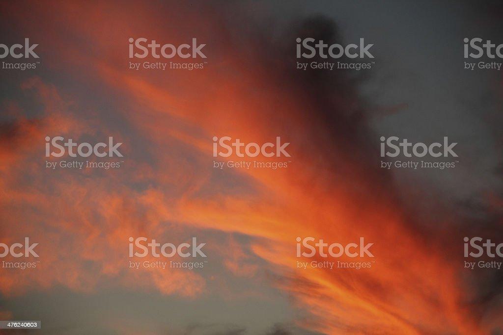 Sunset Sky Dramatic royalty-free stock photo