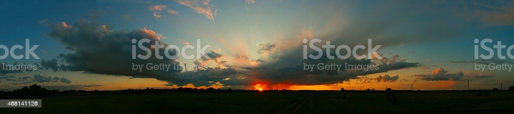Sunset sky foto de stock libre de derechos
