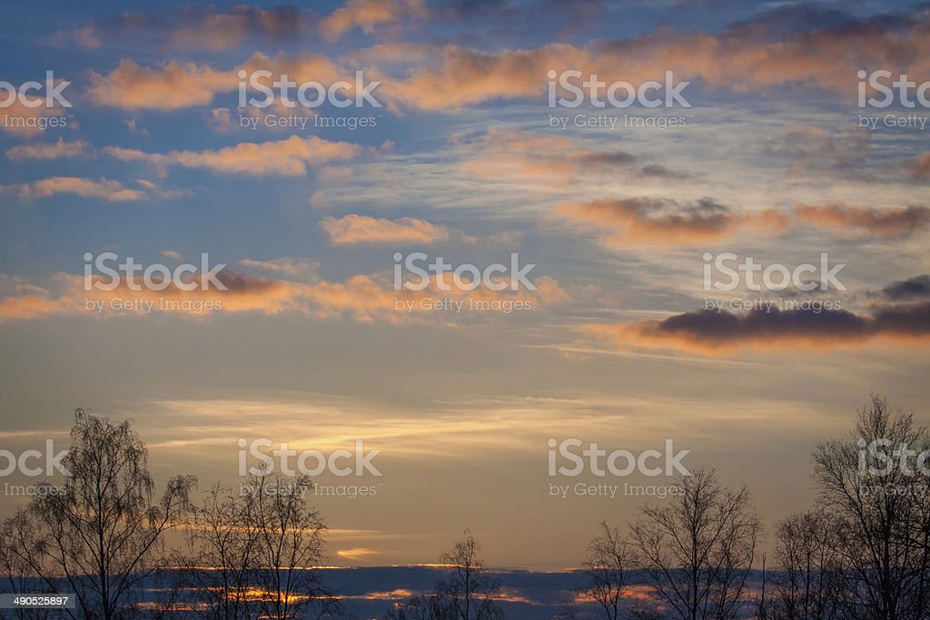 Sunset sky royalty-free stock photo