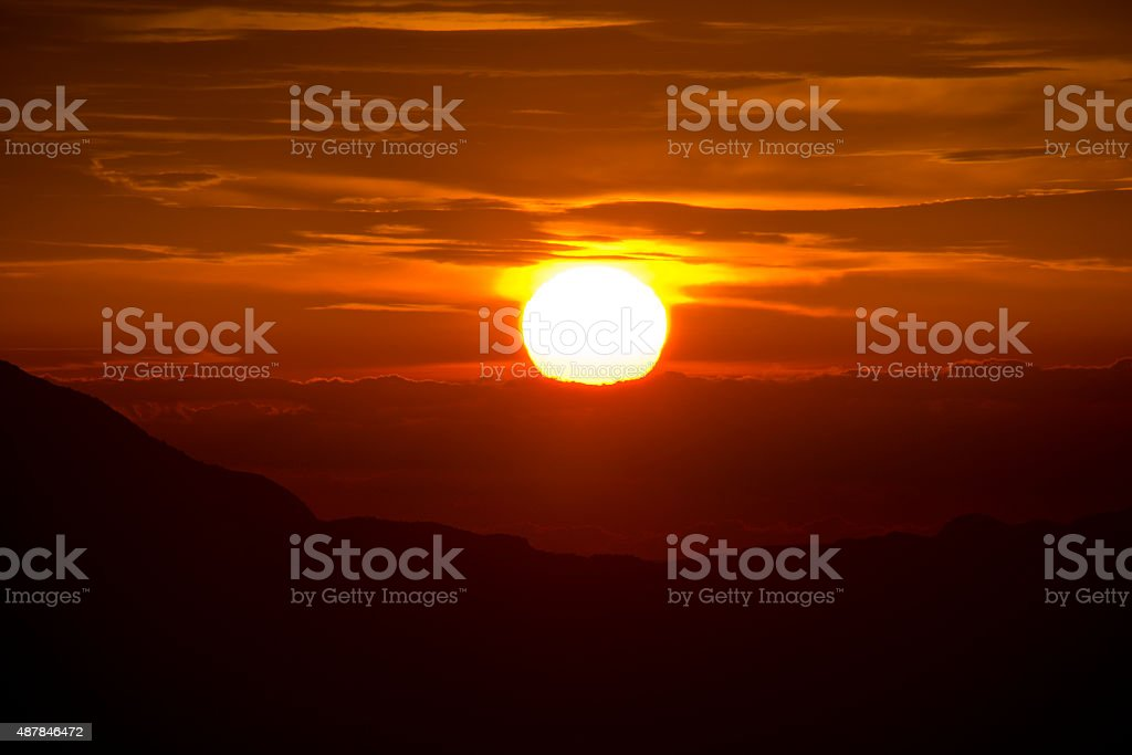 Sunset sky stratosphere background stock photo