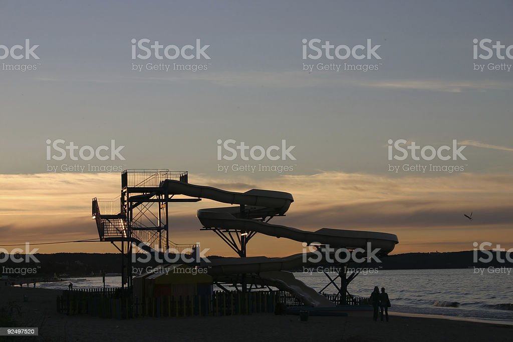 sunset slide royalty-free stock photo