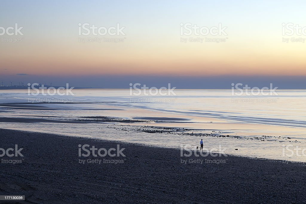 Sunset Solway stock photo