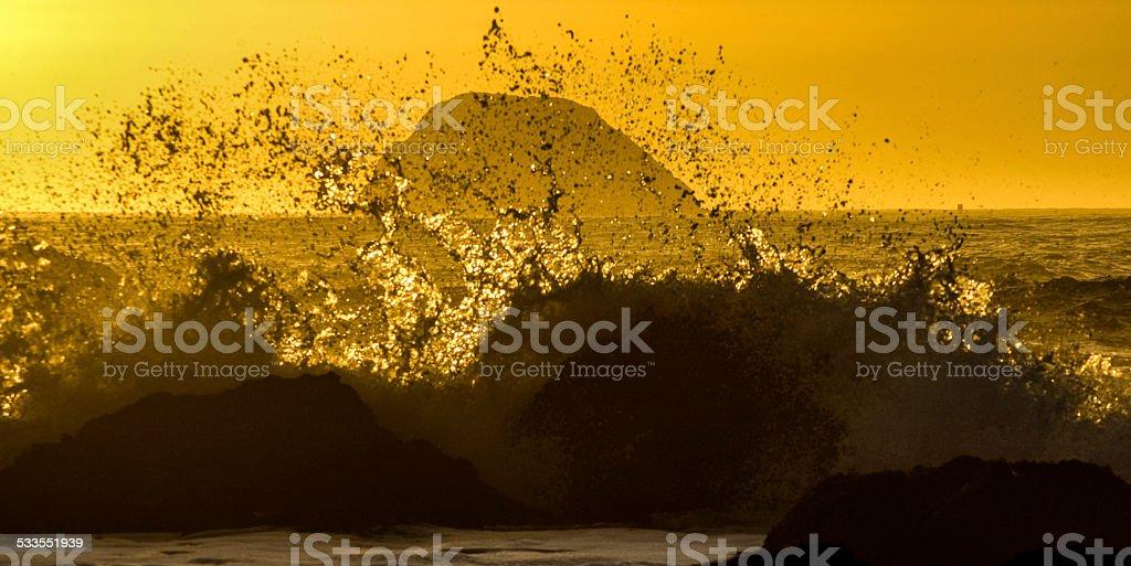Sunset Splash stock photo