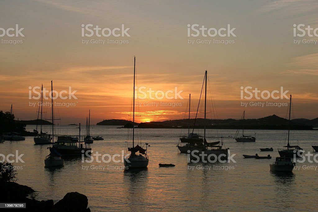 Sunset St Johns stock photo