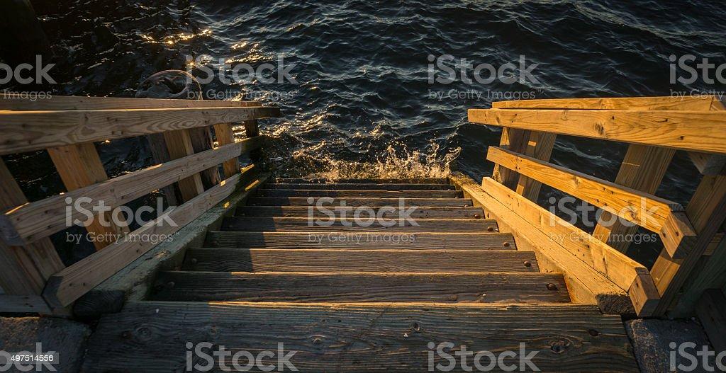 Sunset Stairs stock photo
