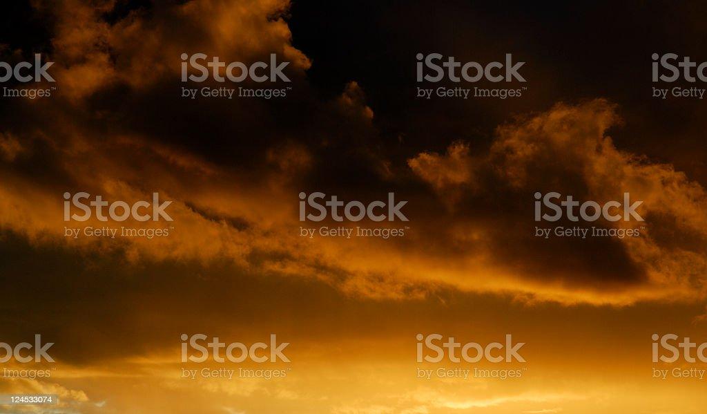 Sunset Storm Background royalty-free stock photo