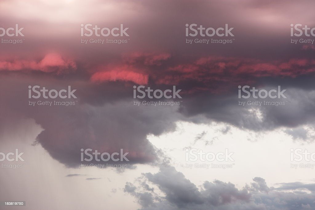 Sunset Storm Cloud Rain Weather Sky royalty-free stock photo