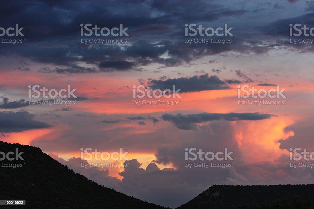 Sunset Storm Cloud Weather Sedona stock photo