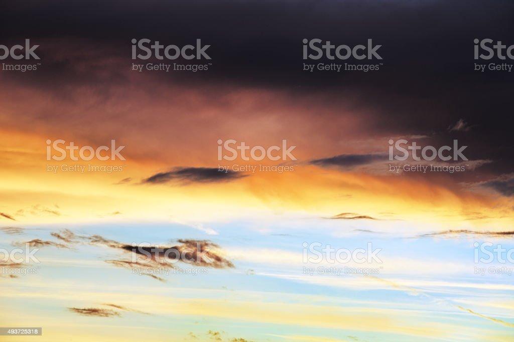 Sunset Storm Cloudscape Sky stock photo