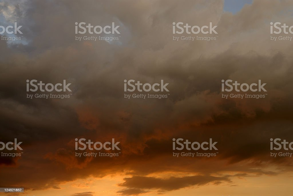 Sunset Storm royalty-free stock photo