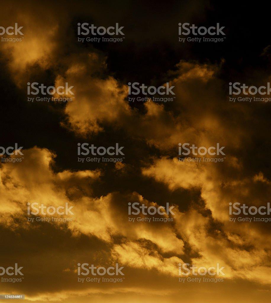 Sunset Storm royalty-free stock photo