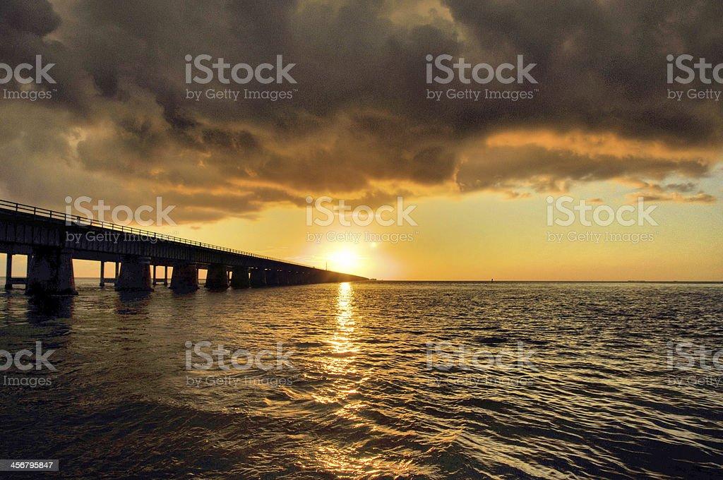Sunset Storm stock photo