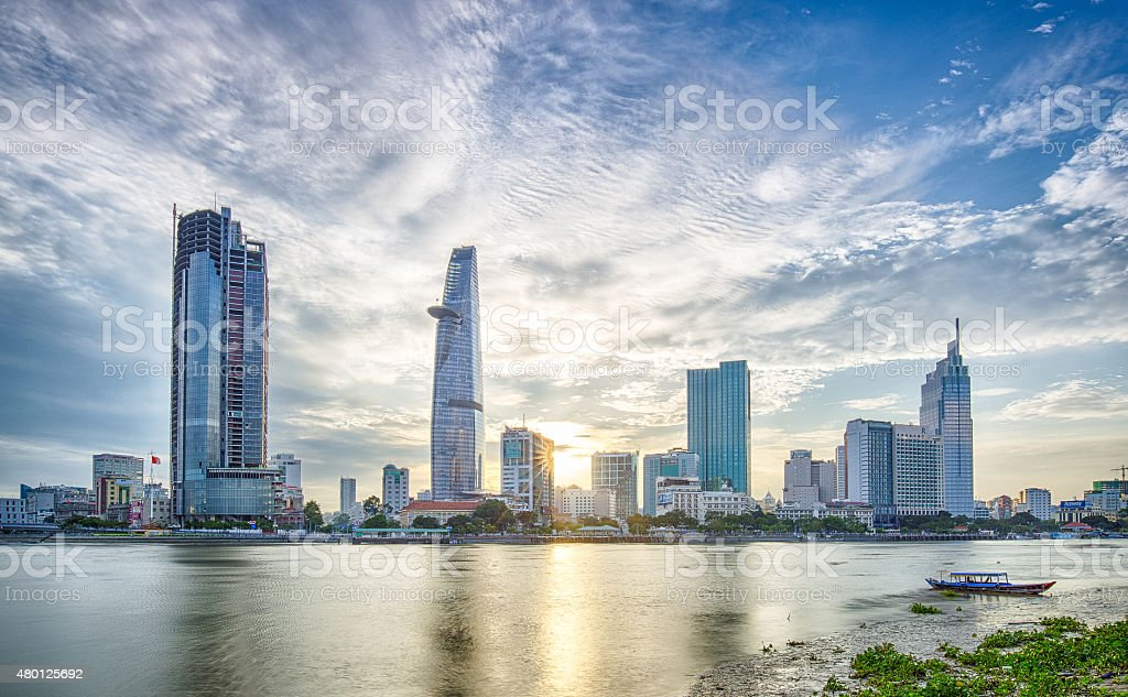 Sunset - Summer - HCM City stock photo