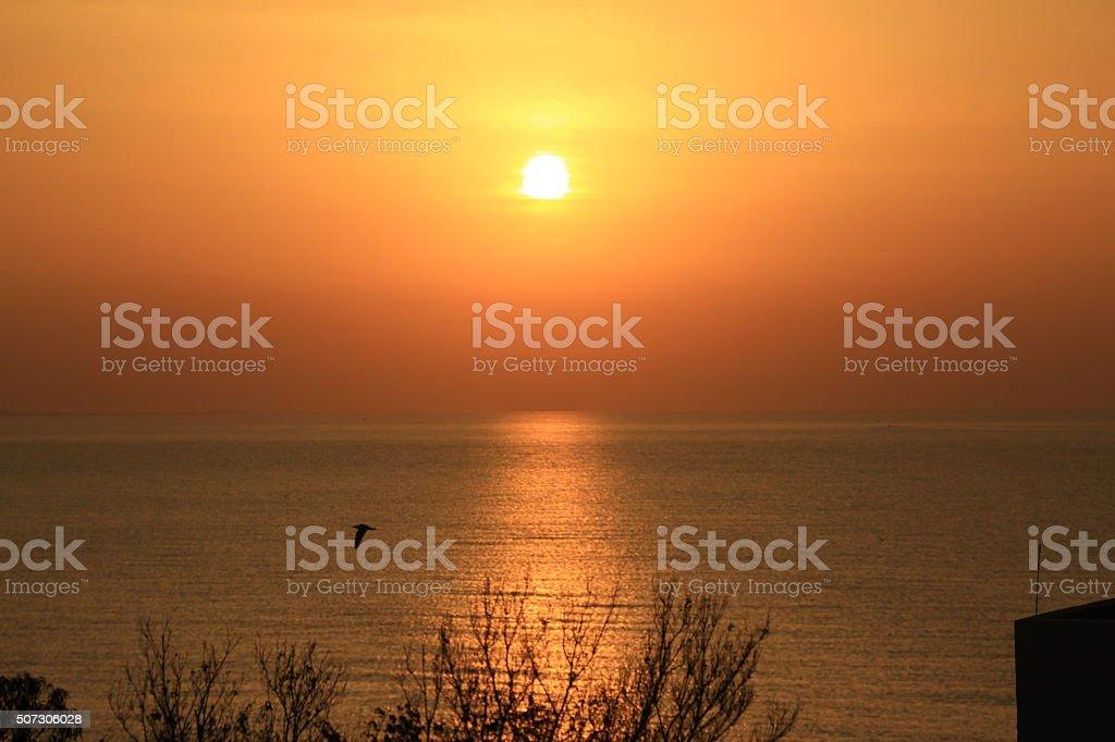 sunset / sunrise stock photo