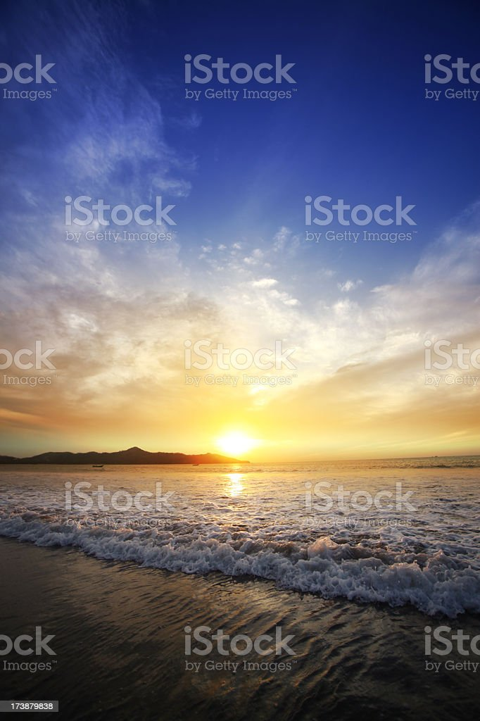 Sunset surf duo stock photo