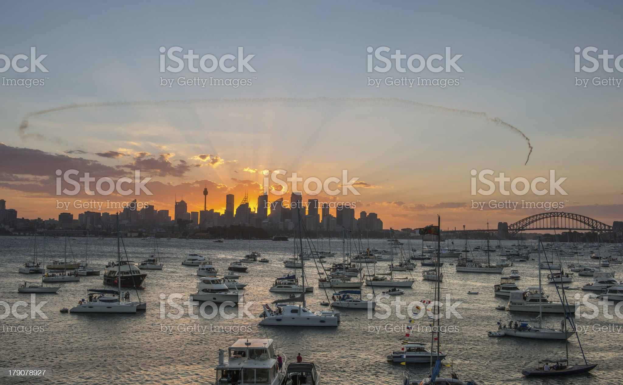 sunset Sydney city CBD royalty-free stock photo