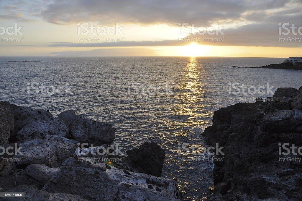 Sunset, Tenerife royalty-free stock photo