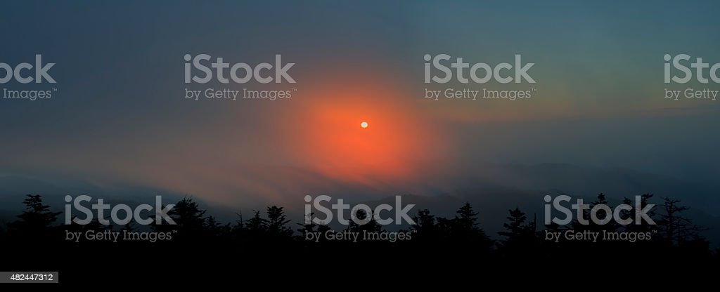Sunset Through the Clouds, Great Smoky Mountains stock photo