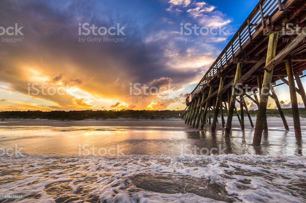 Sunset Tide stock photo