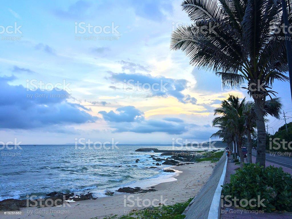 Sunset time in Mui Ne, Vietnam stock photo