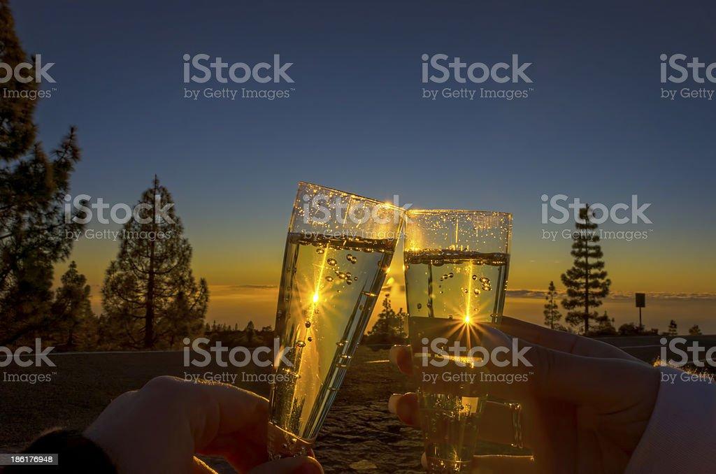 Sunset Toast royalty-free stock photo