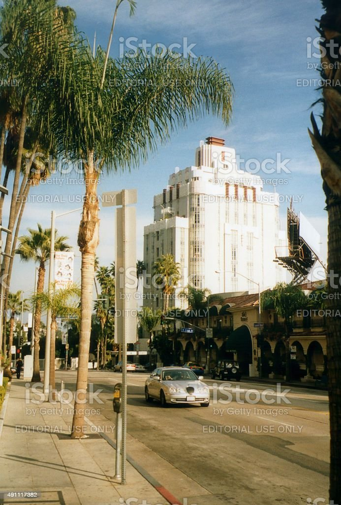 Sunset Tower Hotel historic building, West Hollywood California stock photo