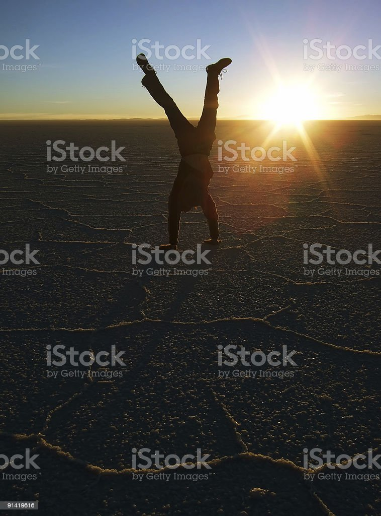 Sunset Upside Down royalty-free stock photo