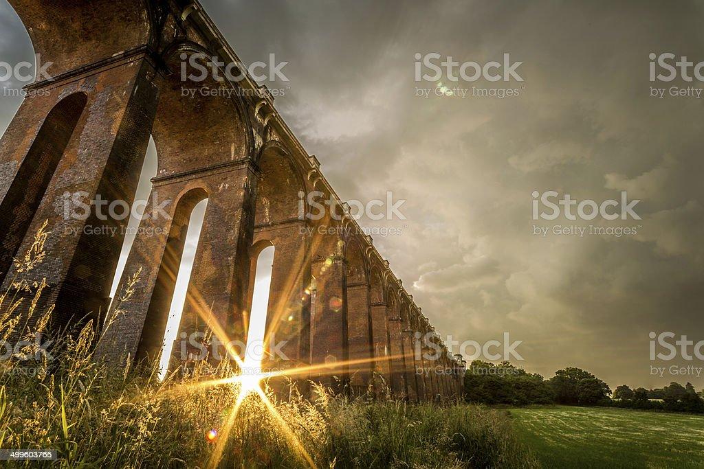 Sunset Viaduct stock photo