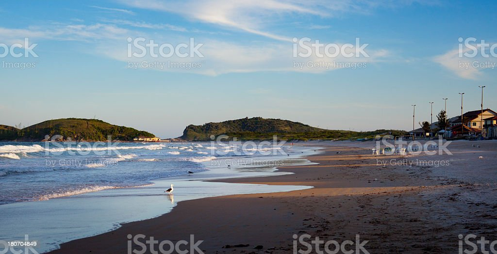 Sunset view of a beach in Brazil stock photo