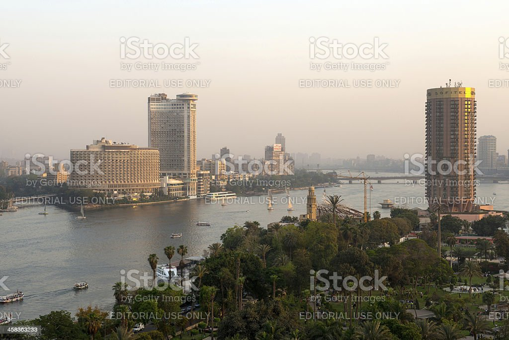 Sunset view of Cairo city royalty-free stock photo