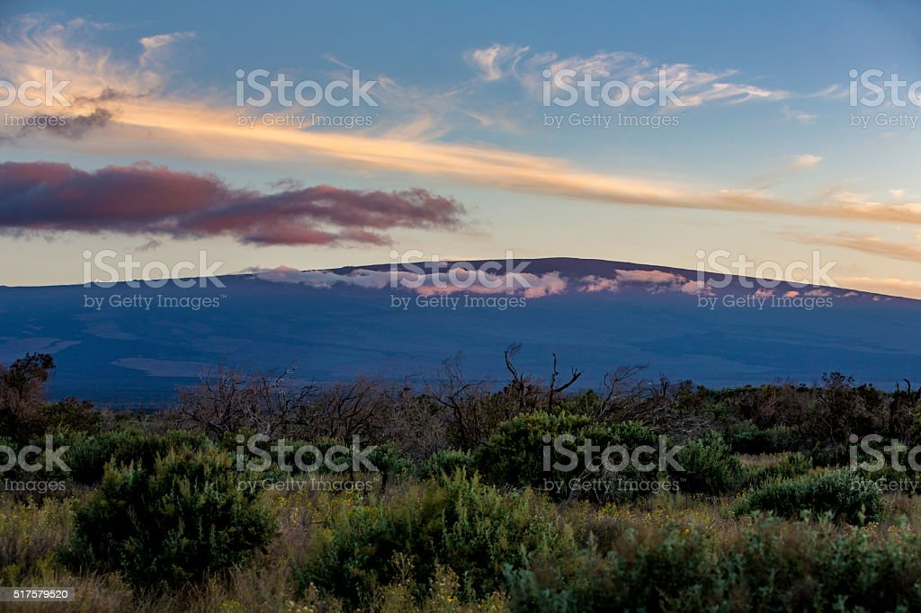 Sunset View of Mauna Loa stock photo