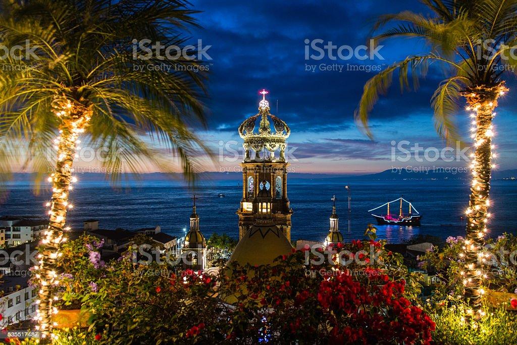 Sunset View, Puerto Vallarta, Mexico stock photo