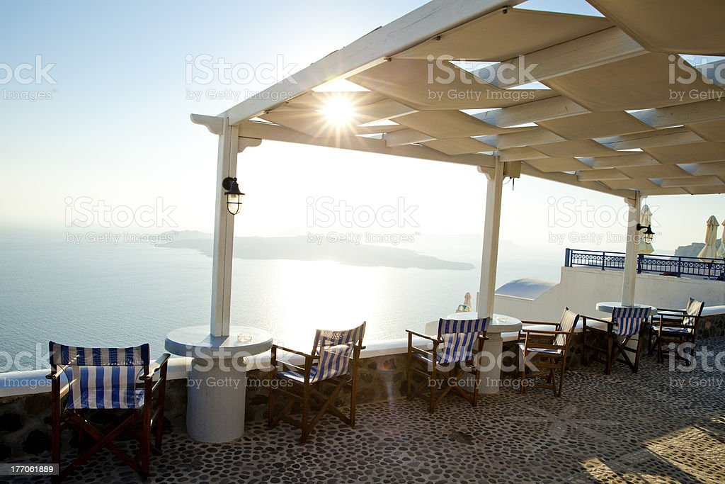 Sunset View Santorini royalty-free stock photo
