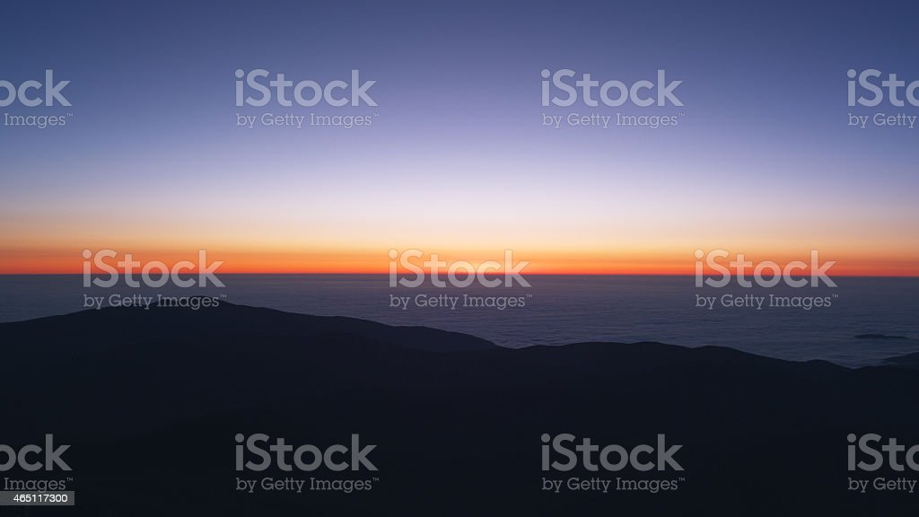 Sunset Views of Observatory in Chile, South America stock photo