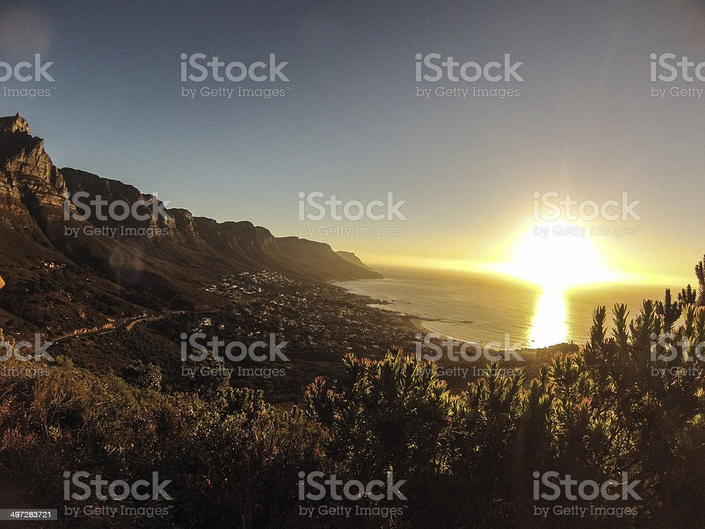 Sunset views stock photo
