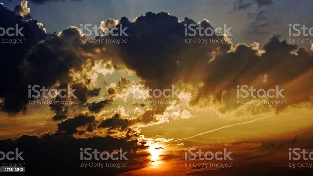 Sunset wallpaper stock photo