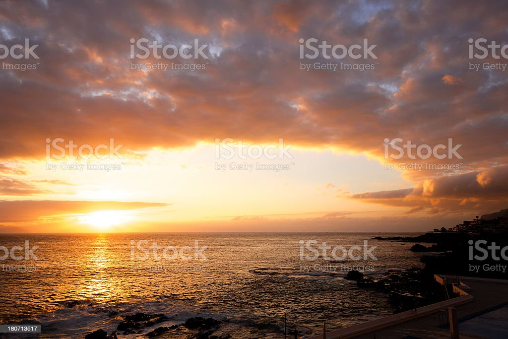 Sunset wallpaper royalty-free stock photo