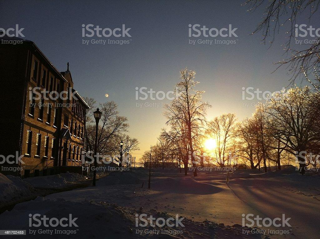 sunset warm light stock photo