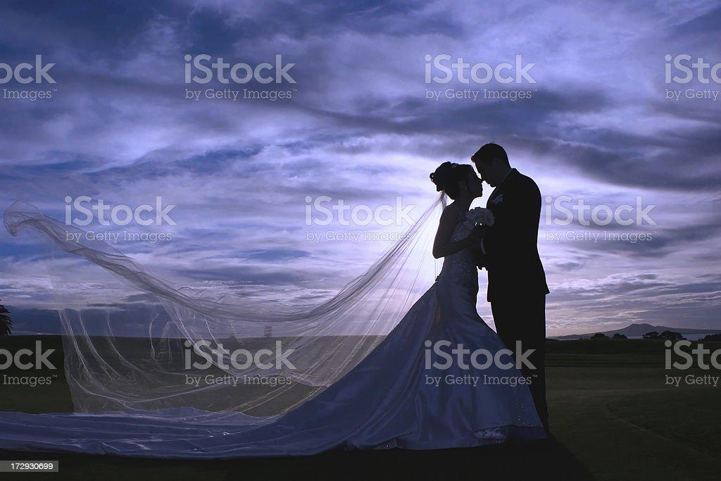 Sunset Wedding royalty-free stock photo