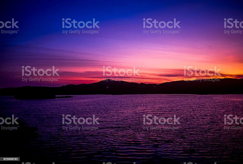 sunset west coast ireland stock photo