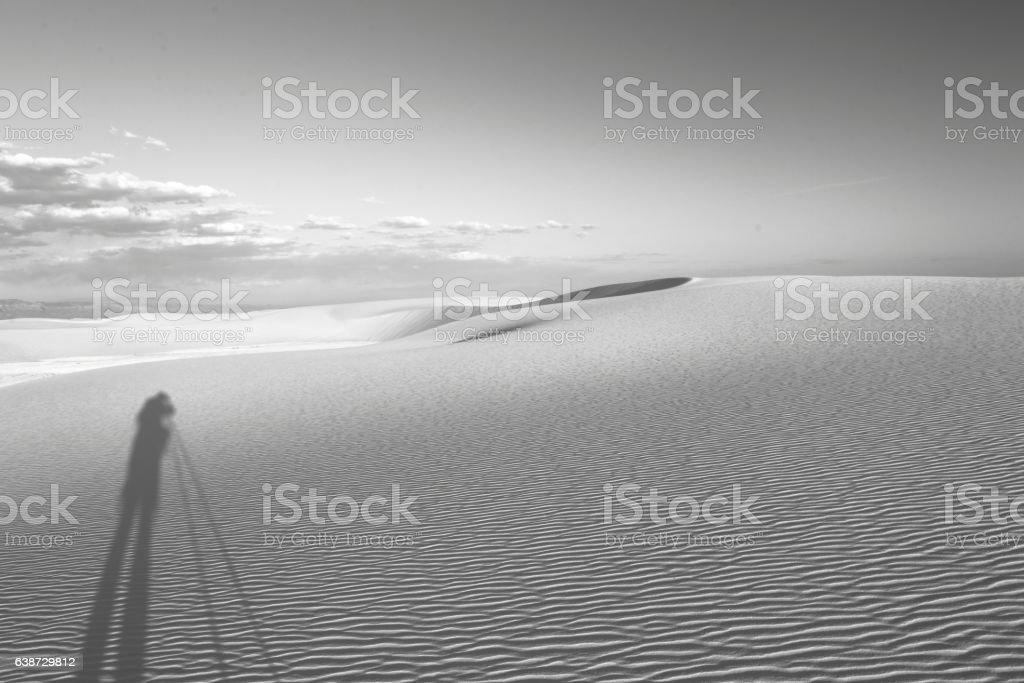 Sunset White Sands National Monument stock photo