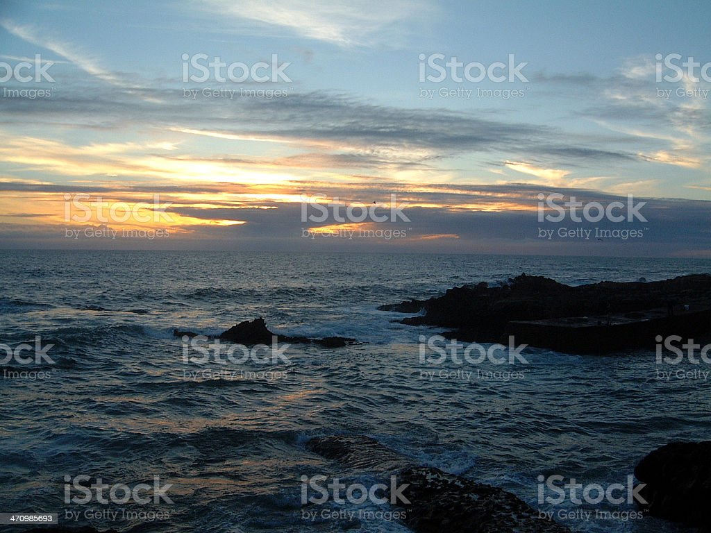 Guincho Sunset royalty-free stock photo