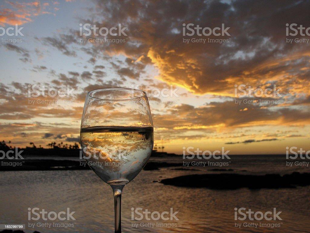 Sunset Wine Tasting stock photo