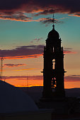 Sunset with Church in San Miguel de Allende, Guanajuato, Mexico
