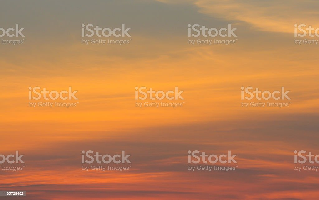 sunset with clouds background stock photo