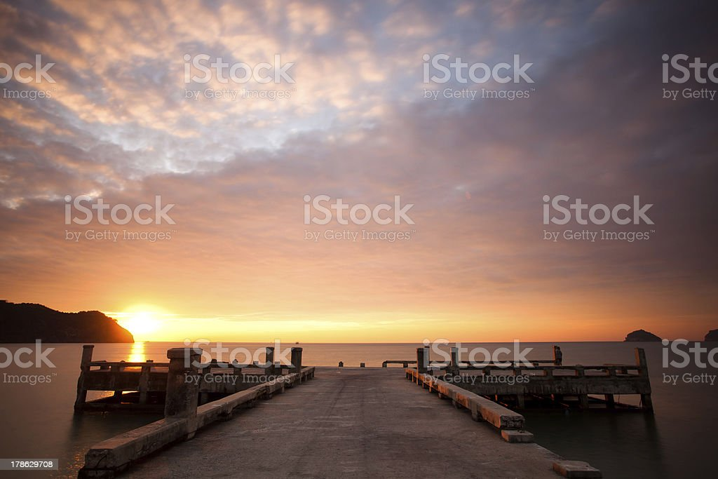 Sunset with cloudscape royalty-free stock photo