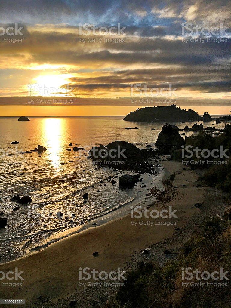 Sunset with Trinidad Head. stock photo